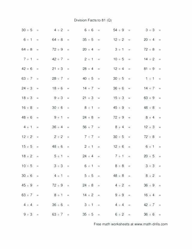 Long Division without Remainders Worksheet Printable Simple Division Worksheets