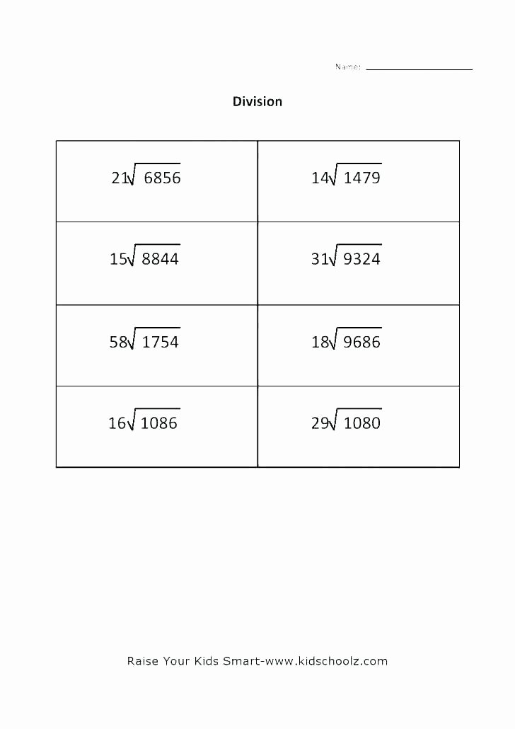 Long Division without Remainders Worksheet Two Digit Long Division Worksheets