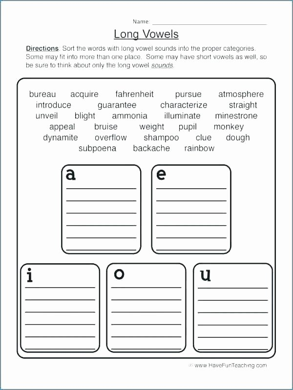 Long O Worksheets 2nd Grade I E Worksheets Long O Worksheets Long and Short Objects