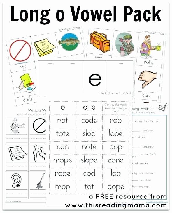 Long O Worksheets 2nd Grade Long Vowel E Worksheets U Silent O Words with Short An