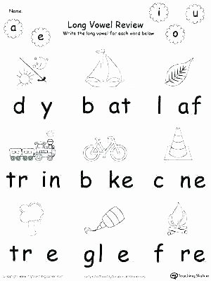 Long U sound Worksheet Long Vowel Worksheets Kindergarten