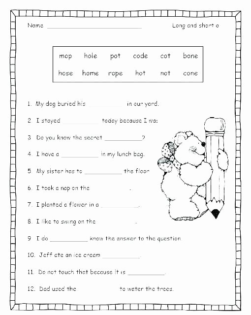 Long U sound Worksheet Medial sounds Worksheets First Grade