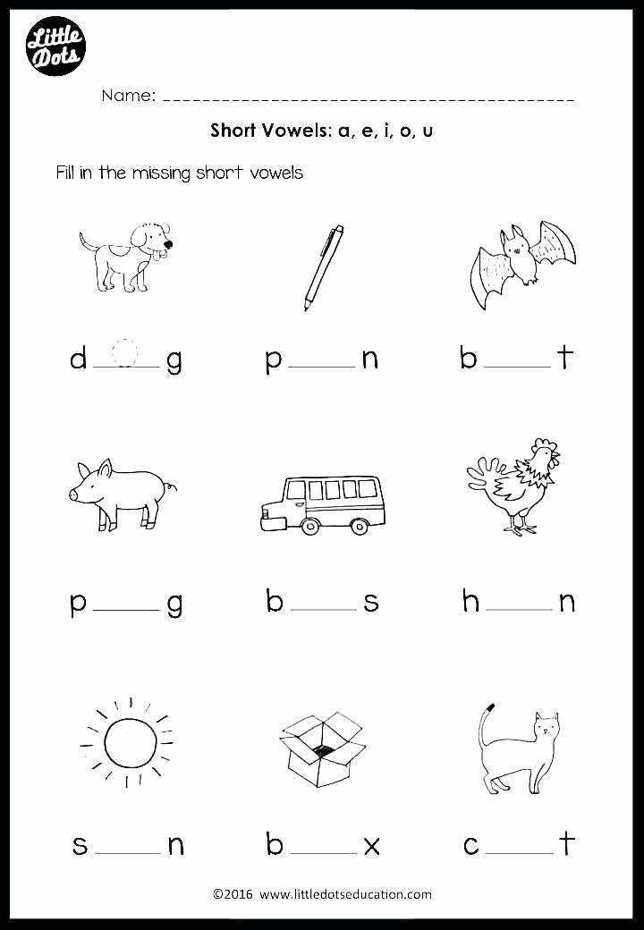 Long U sound Worksheet Short O Words Worksheets Long sound Worksheet U with Vowel
