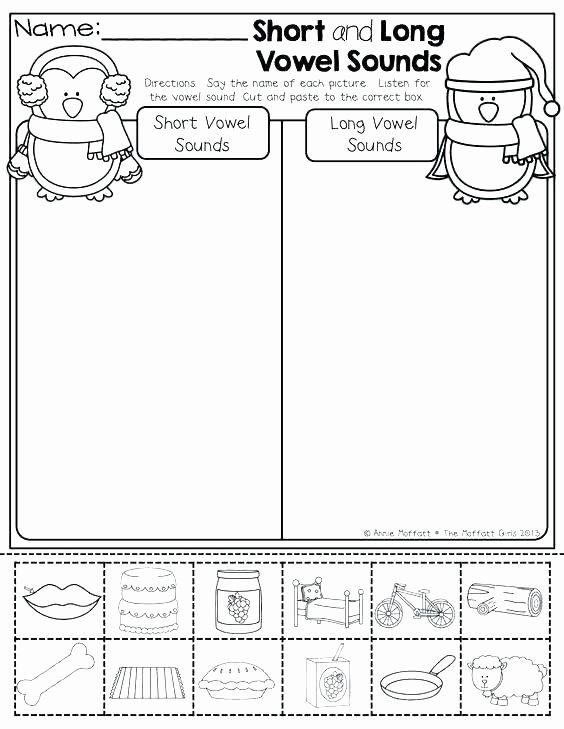 Long Vowel Review Worksheets Short Vowel sounds Worksheets for Kindergarten