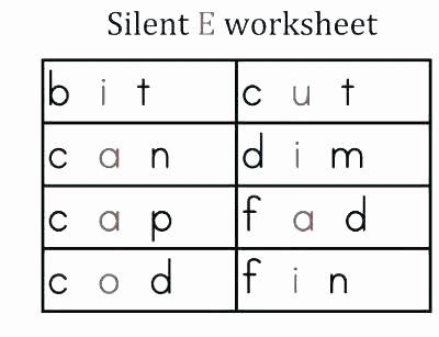 Long Vowel Silent E Words Elegant Long A Silent E Worksheets