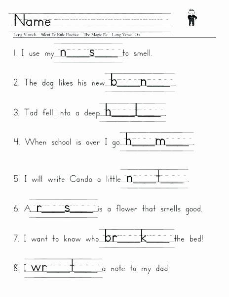 Long Vowel Silent E Words Inspirational Long Vowel O Lent E Worksheets Vowels and to Silent Pdf