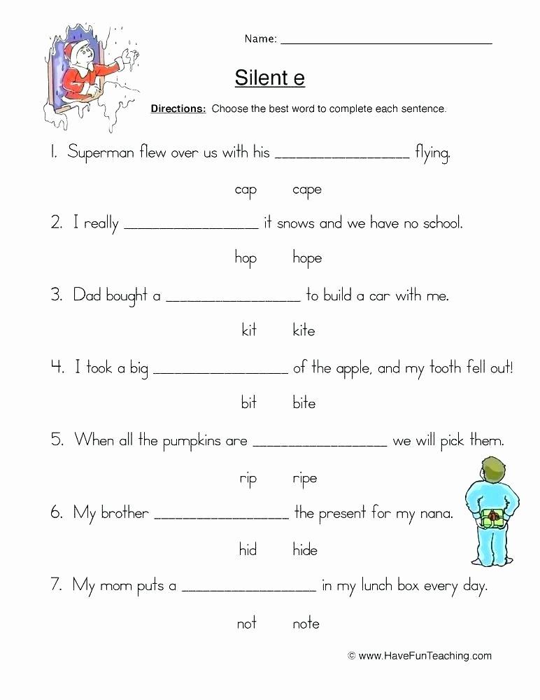 Long Vowel Silent E Worksheet Long Vowel O Silent E Worksheets