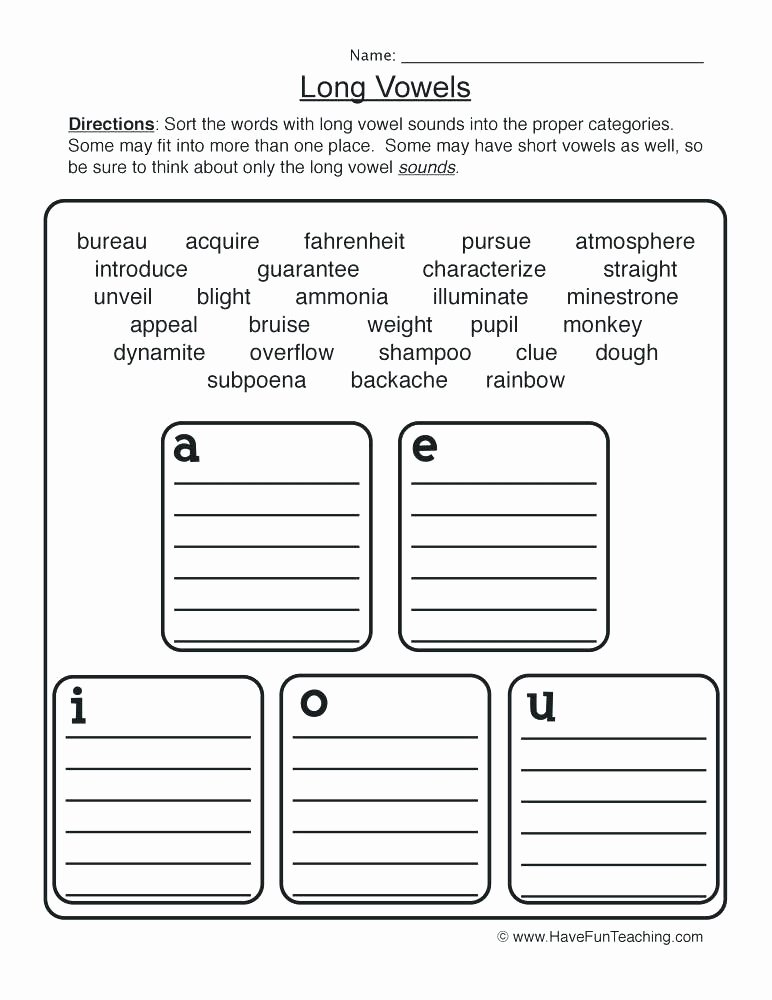 Long Vowel sounds Worksheets Short Vowel O Worksheets Kindergarten