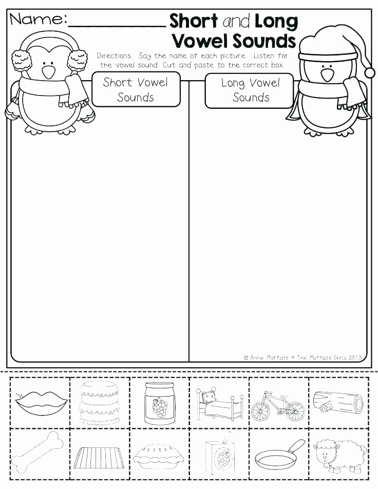 Long Vowel sounds Worksheets Vowel sort Worksheets – Petpage