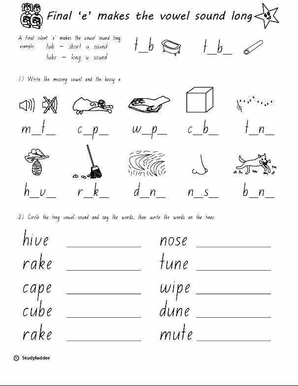 Long Vowel Worksheets Pdf Short O Words Worksheets