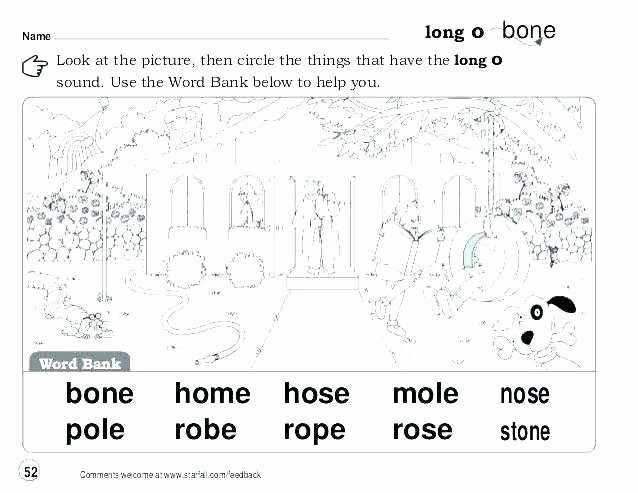 Long Vowels Worksheets First Grade Grade Phonics Worksheets Free Printable for Activities