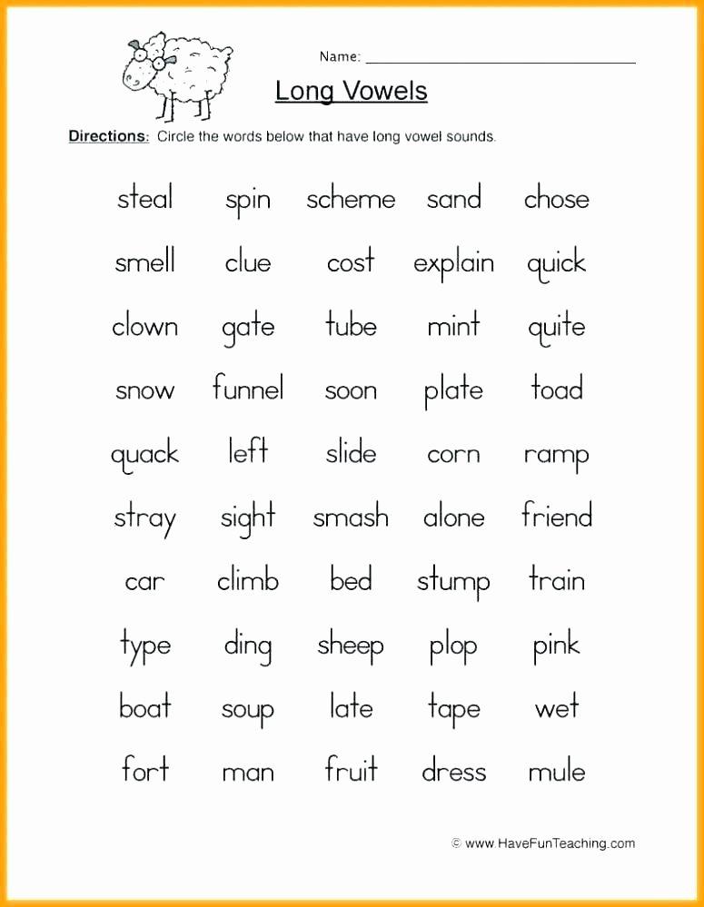 Long Vowels Worksheets First Grade Short O Words Worksheets