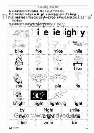 Long Vowels Worksheets Pdf I E Worksheets