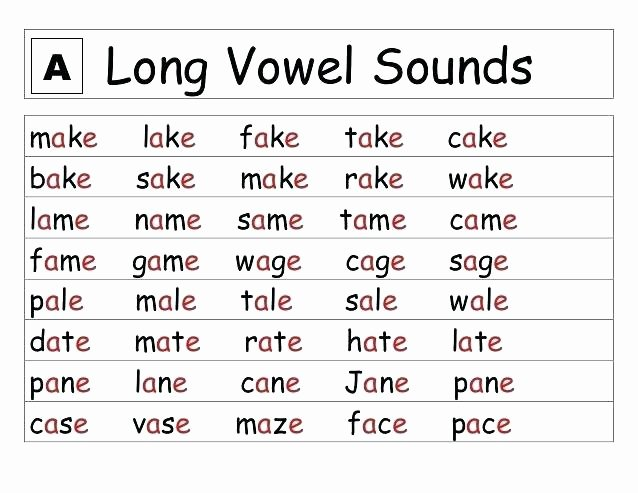 Long Vowels Worksheets Pdf Long Vowels Worksheets Long Vowel sound Worksheets Free