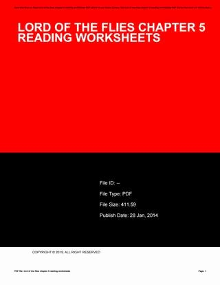 Lord Of the Flies Worksheets Lord Of the Flies Chapter 5 Reading Worksheets by N1190 issuu