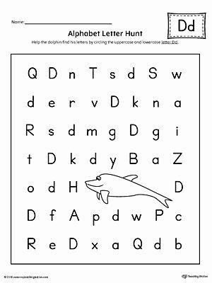 Lower Case Alphabet Worksheet Alphabet Letter Hunt Letter D Worksheet