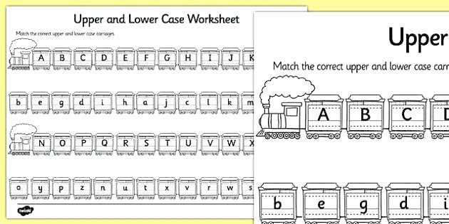 Lower Case Alphabet Worksheet Matching Lowercase and Uppercase Letters Worksheets