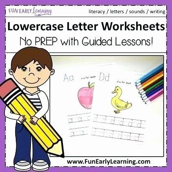 Lower Case Alphabet Worksheet original Lowercase Letter Worksheets with Guided Lessons 3