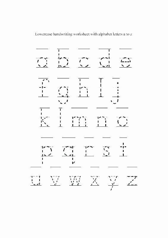 Lowercase Alphabet Tracing Worksheet Alphabets Worksheets for Preschoolers Letter N Preschool