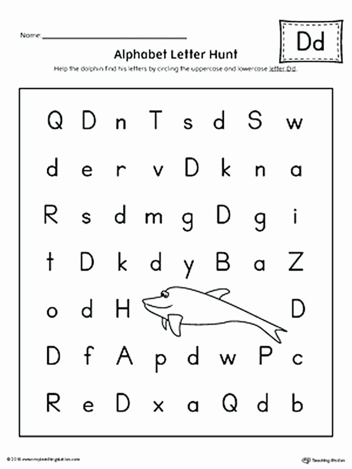 Lowercase Alphabet Tracing Worksheet Letter D Tracing Worksheets