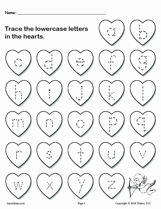 Lowercase Alphabet Tracing Worksheet Lowercase Letter Tracing Worksheets Free Uppercase and