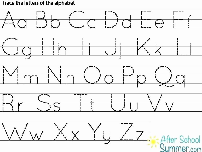 Lowercase Alphabet Tracing Worksheets Abc Tracing Worksheets for Kindergarten