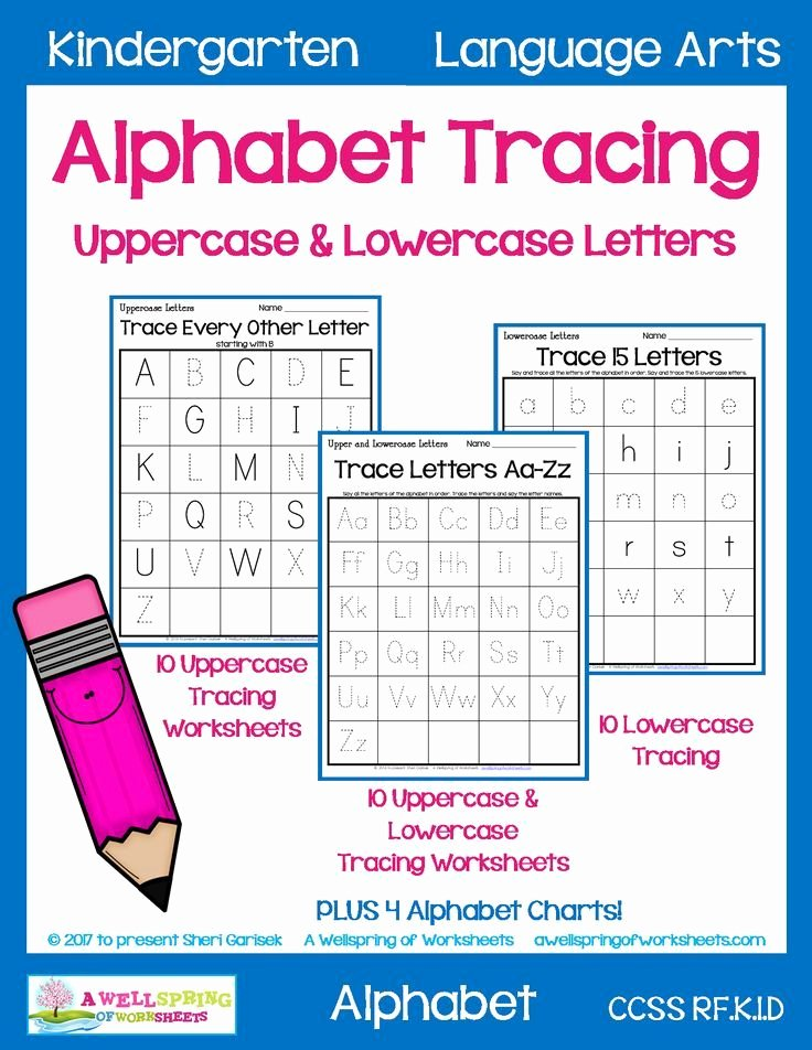 Lowercase Alphabet Tracing Worksheets Alphabet Tracing Worksheets Uppercase & Lowercase Letters