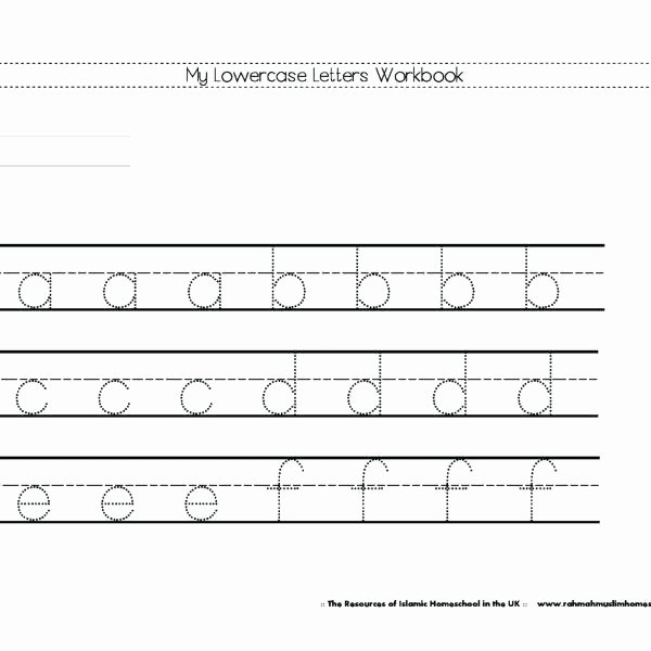 Lowercase Alphabet Tracing Worksheets Printable Letter Tracing Worksheets