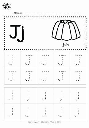 Lowercase Letter Tracing Worksheet Free Letter J Tracing Worksheets Upper and Lowercase Letter