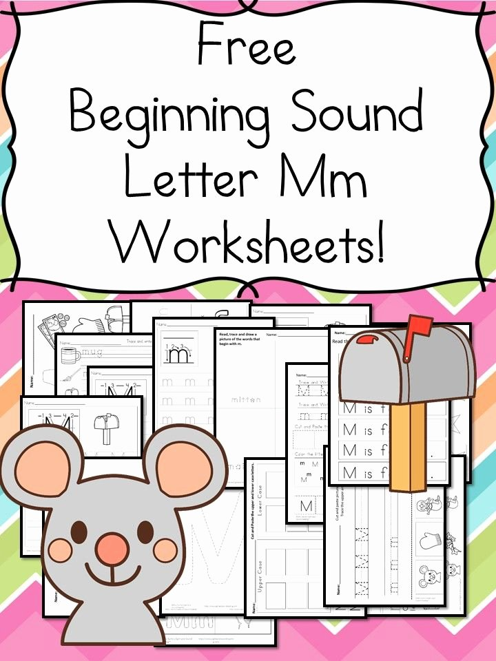 M Worksheets Preschool 18 Free Letter M Beginning sound Worksheets Easy Download