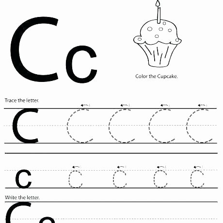 M Worksheets Preschool Letter C Worksheets Free