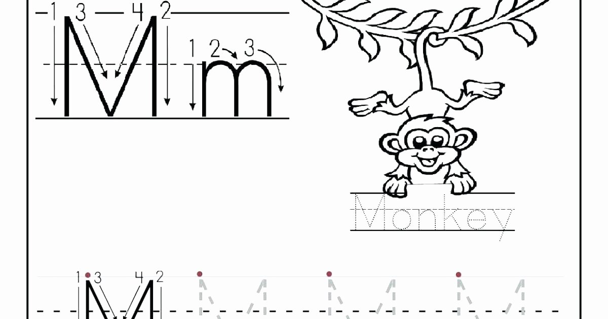 M Worksheets Preschool Letter M Printable Worksheets