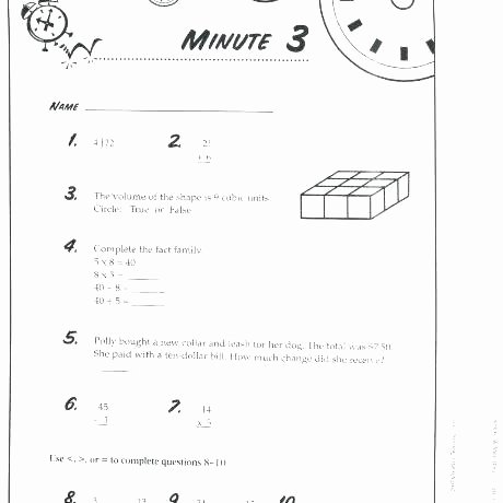 Mad Minute Addition 3 Minute Multiplication Drill Grade Timed Math Sheets Five