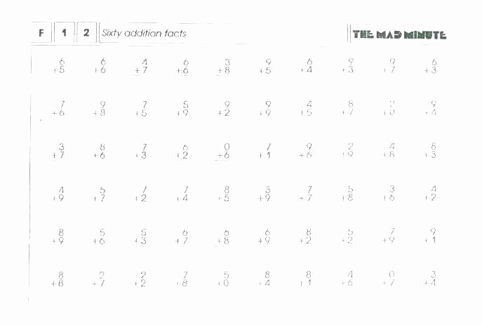 Mad Minute Subtraction Worksheets Multiplication Drill Worksheets 3 Minute Mad Worksh Vertical
