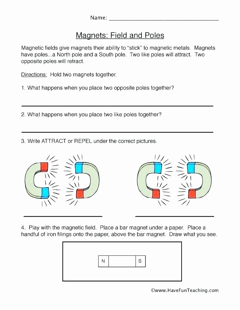 Magnetism Worksheet for High School Awesome 5th Grade Magnetism Worksheets All About Worksheet Lesson