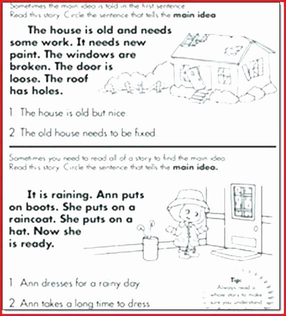 Main Idea 2nd Grade Worksheet Nonfiction Worksheets Grade Main Idea Worksheets Grade