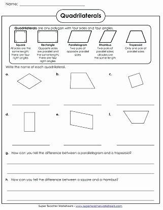 Main Idea 2nd Grade Worksheet Polygon Worksheets Quadrilaterals Worksheet Multiple Main
