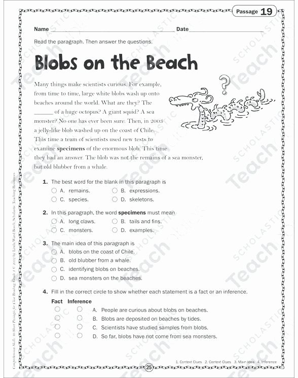 Main Idea 3rd Grade Worksheets 4th Grade – Free Preschool Kindergarten Worksheets