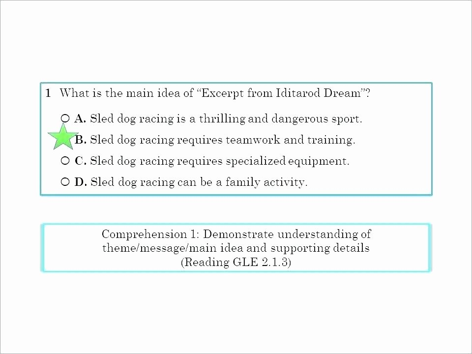 Main Idea 3rd Grade Worksheets theme Worksheets Grade Practice Quiz Worksheet Identifying
