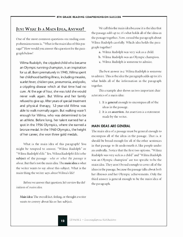 Main Idea and Summary Worksheets Informational Text Worksheets