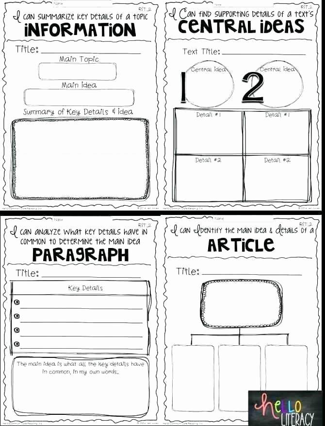 Main Idea and Summary Worksheets Main Idea Worksheets 8th Grade – Deglossed