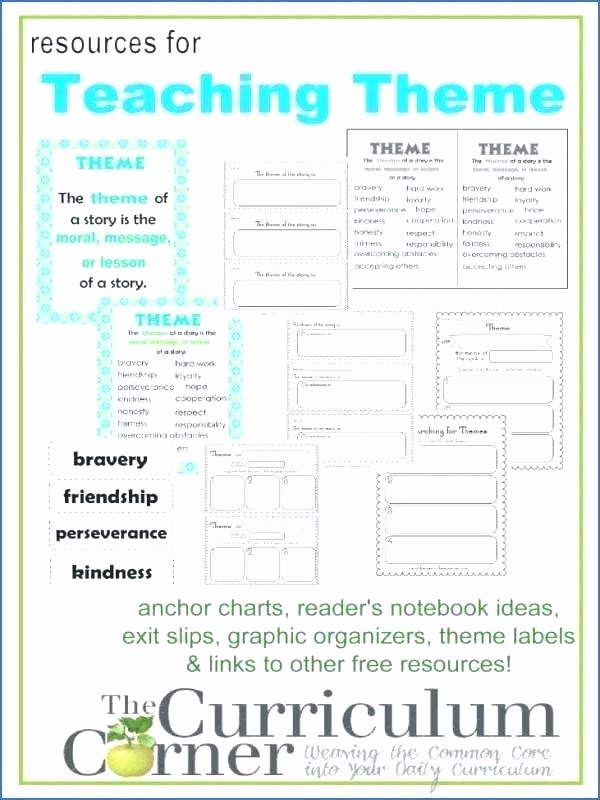 Main Idea and theme Worksheets theme Worksheets Grade Identifying theme Worksheets theme