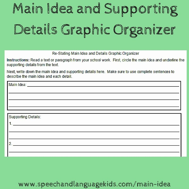 Main Idea Worksheets Grade 1 Helping Children to Identify Main Ideas and Supporting
