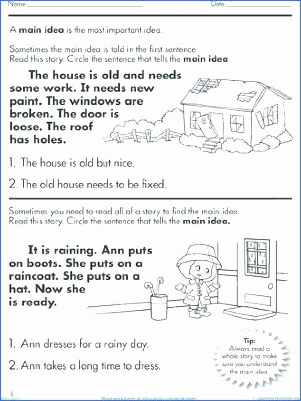 Main Idea Worksheets Grade 1 Identifying Main Idea Worksheets Main Idea Worksheets Grade