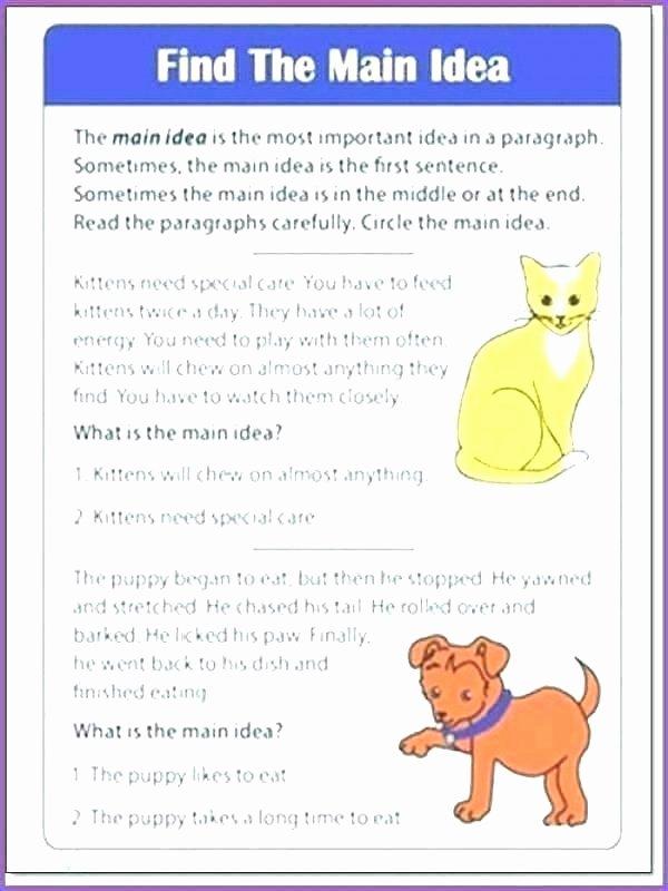Main Idea Worksheets Grade 1 Main Idea Worksheets for Grade 1 – Sunriseengineers