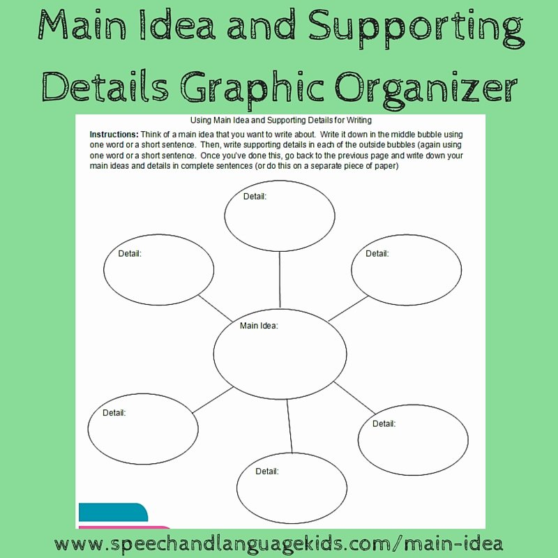 Main Idea Worksheets High School Helping Children to Identify Main Ideas and Supporting