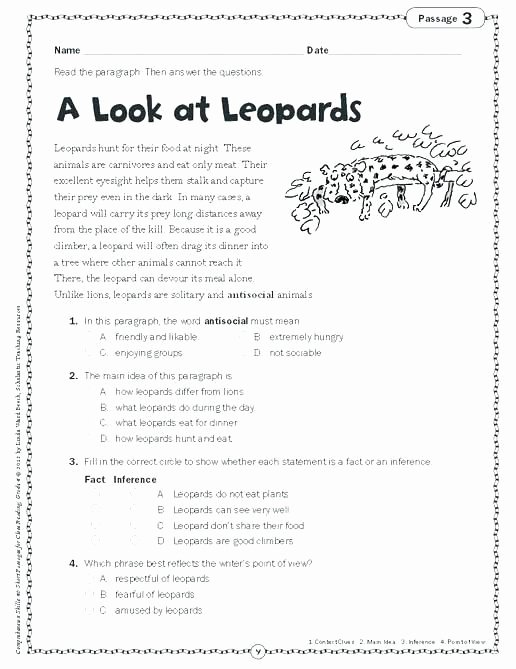 Main Idea Worksheets Middle School Main Idea Worksheets Middle School