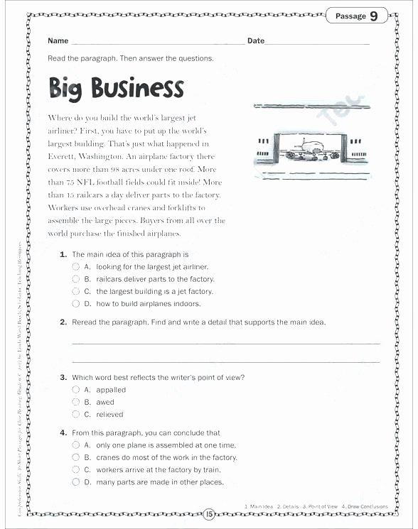Main Idea Worksheets Third Grade Third Grade Main Idea and Details Worksheet – Faithadventures