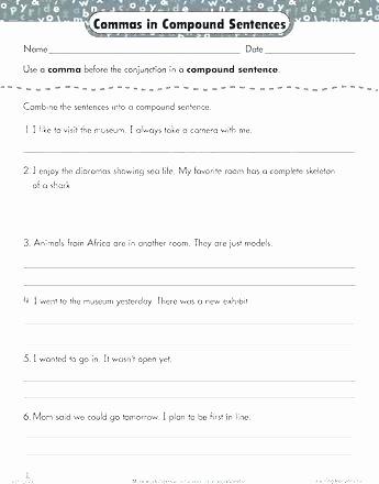 Making Compound Sentences Worksheets Bining Sentences Sentence Worksheet 2 Pound Worksheets
