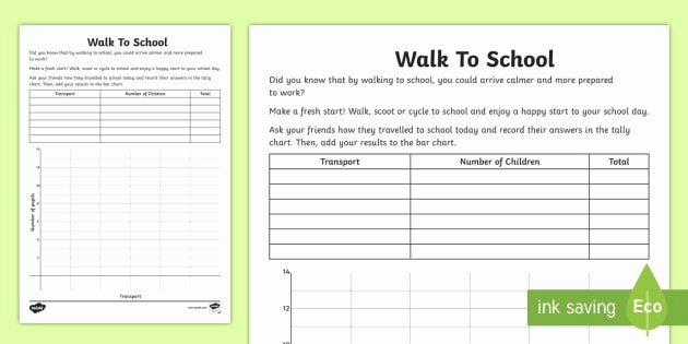 Making Friends Worksheets Inspirational Ks1 Walk to School Bar Chart Worksheet Worksheet Walk to